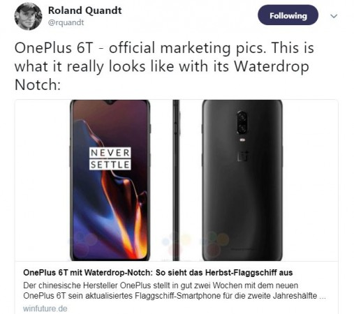 OnePlus 6T, promotional image, launch,