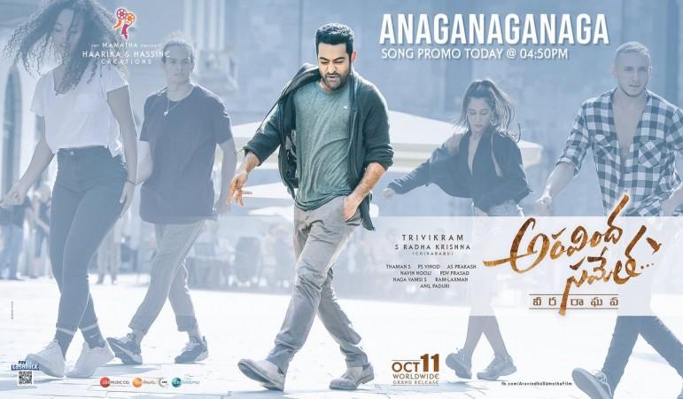 Poster of the song Anaganaganaga from Aravinda Sametha