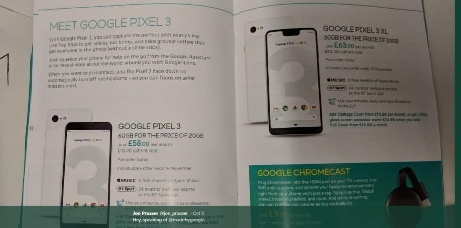 Google, Pixel 3, Brochure, Pixel 3 XL