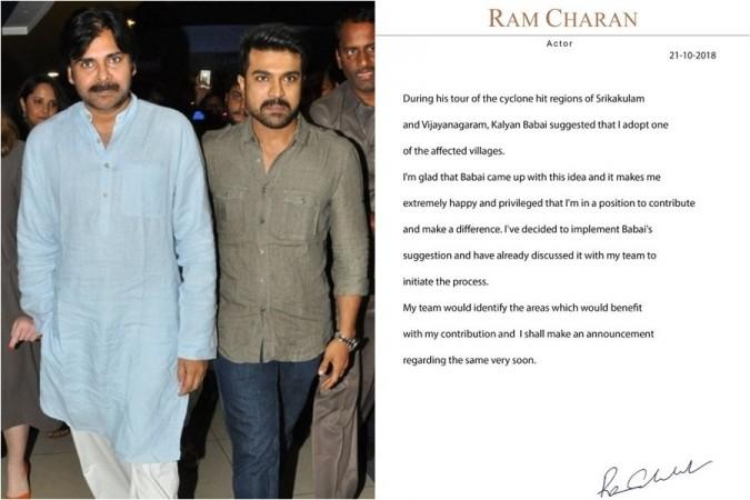 Ram Charan with Pawan Kalyan