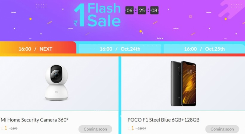 Xiaomi, Diwali with Mi, sale, Poco F1, Redmi 6A, Re 1 flash sale, Small=Big sale