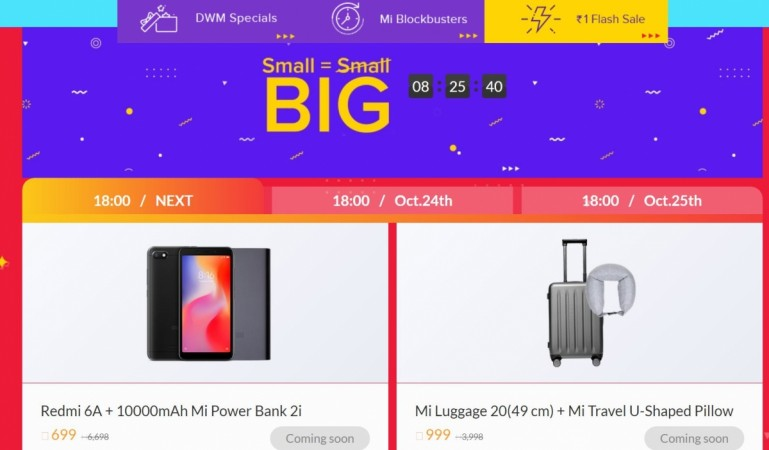 Xiaomi, Diwali with Mi, sale, Poco F1, Redmi 6A, Re 1 flash sale, Small=Big sal