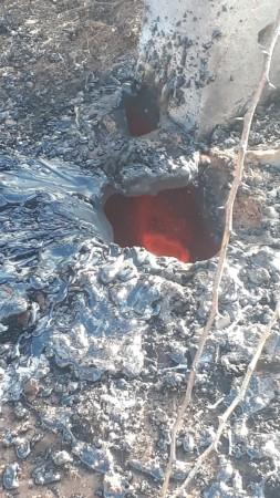 Karnataka: Flame and lava arise in the agricultural land of Chitradurga