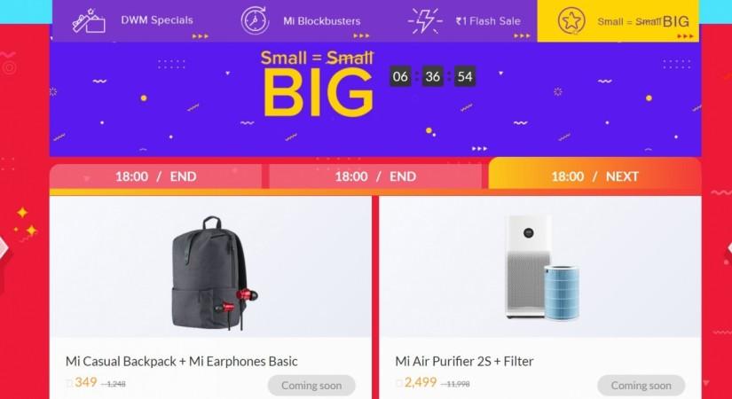 Xiaomi, Diwali with Mi, sale, Mi Air Purifier 2S, Small=Big savings sale,