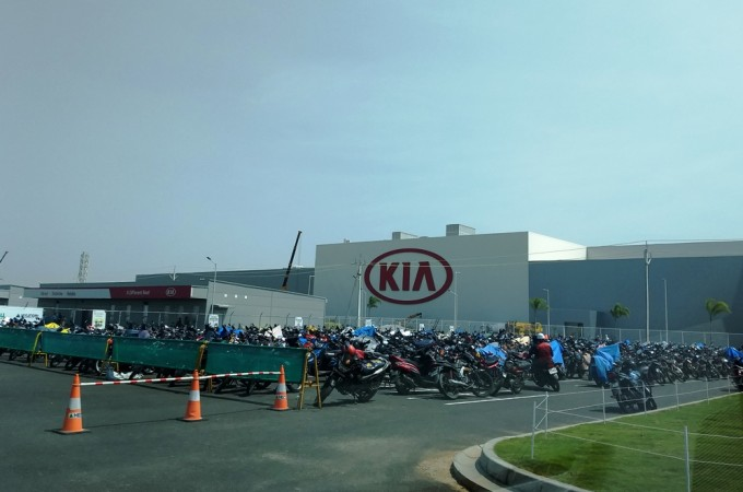 Main entrance of Kia Motors India plant