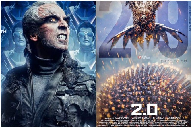 Akshay Kumar and Rajinikanth in 2.0