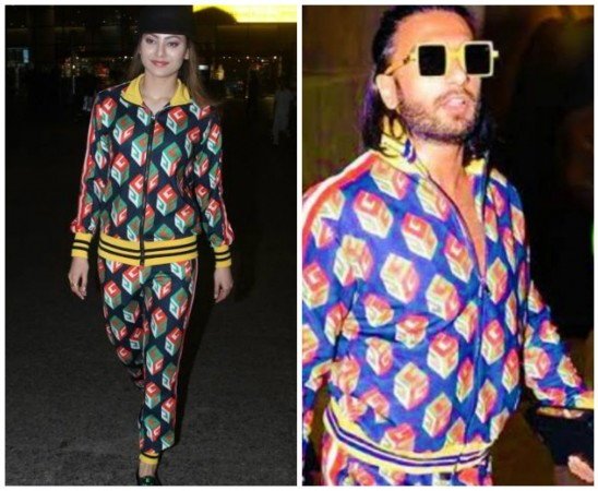 Urvashi Rautela and Ranveer Singh in Gucci track-suit worth Rs 5 lakh