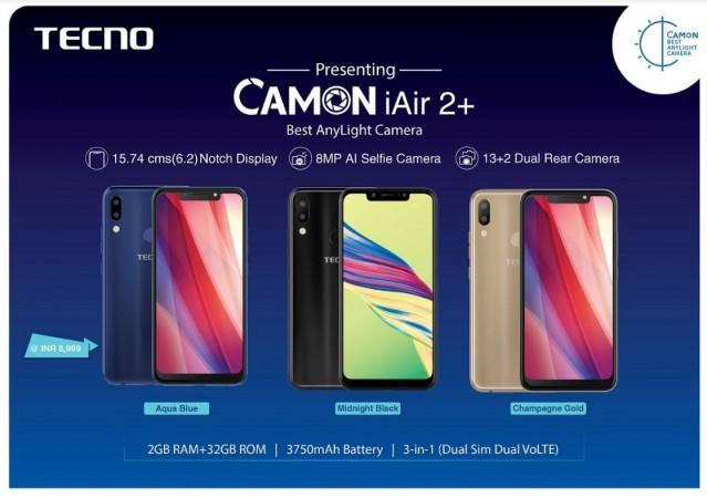 Tecno, Camon iAir 2 , review