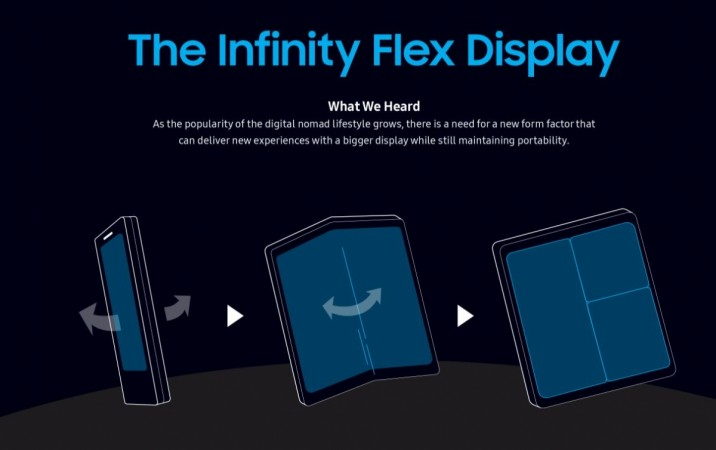 Samsung, Infinity Flex Display, Samsung Developer Conference, SDC 2018