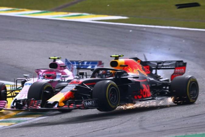 Max Verstappen, Esteban Ocon, Brazil GP