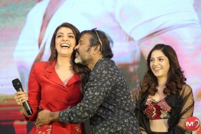Chota K Naidu kissing Kajal Agarwal