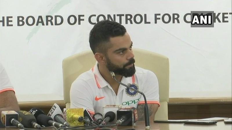 Virat Kohli speaks with the media ahead of Australia tour