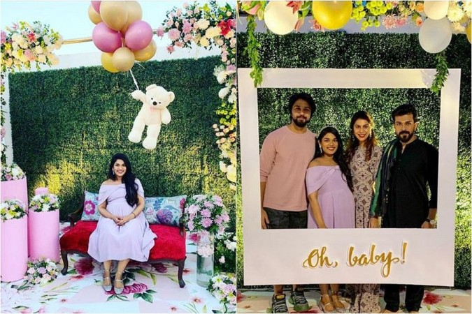 Chiranjeevi S Younger Daughter Sreeja Baby Shower Kalyaan Dhev