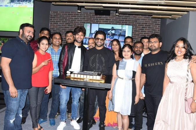 Allu Arjun at Taxiwala success party