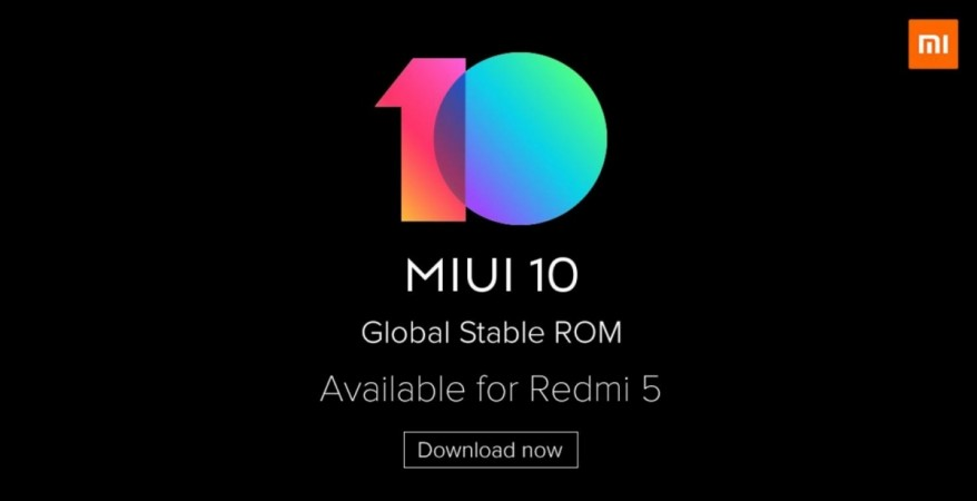 Xiaomi, Redmi 5, MIUI 10, Global stable, ROM
