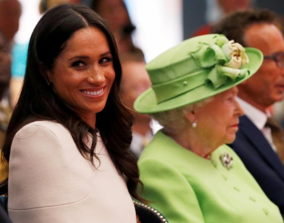 Meghan Markle with the Queen