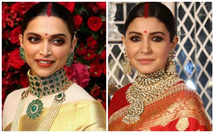 Did Deepika Padukone copy Anushka Sharma's look for Bengaluru reception?