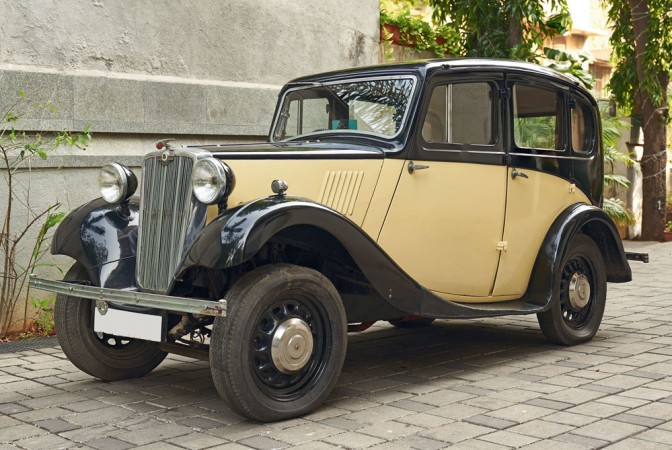 Morris 8 1937 owned by MF Hussain