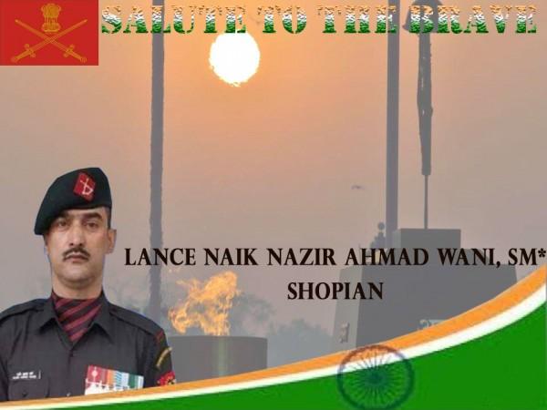 Lance Naik, Nazir Wani