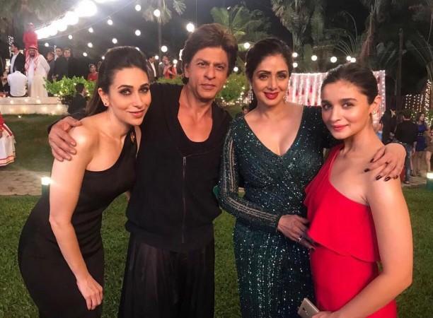 Karisma Kapoor, Shah Rukh Khan, Sridevi, Alia Bhatt