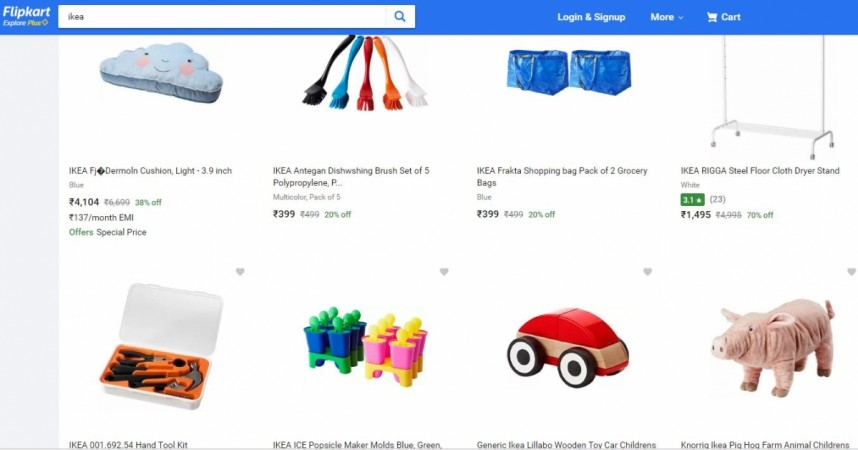 IKEA products in Flipkart