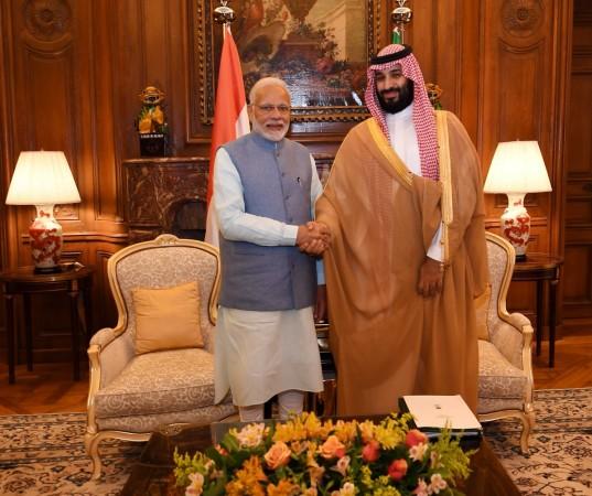 Modi meets Mohammed bin Salman