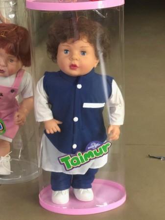 Taimur lookalike doll