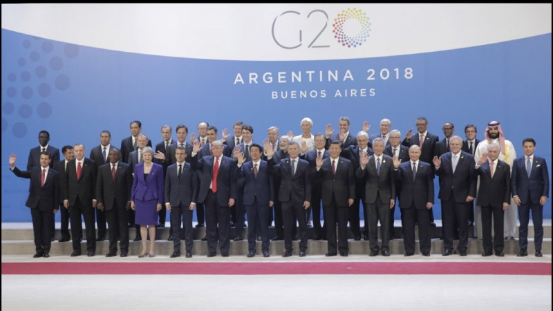 World Leaders Pose For Official G20 Summit 2018 Photo