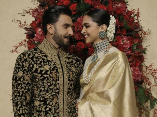 Deepika Padukone and Ranveer Singh during Bengaluru reception