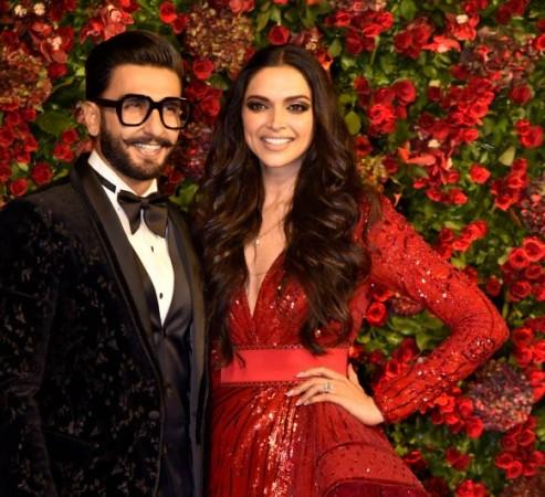 Deepika Padukone and Ranveer Singh at Mumbai reception