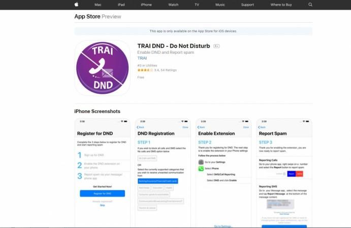 Apple, TRAI, DND, iOS App, Do Not Disturb, App Store