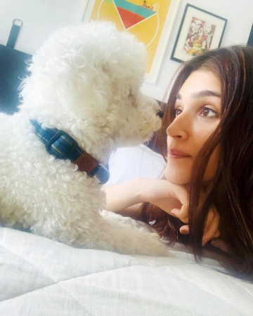 Kriti Sanon with her pet Disco