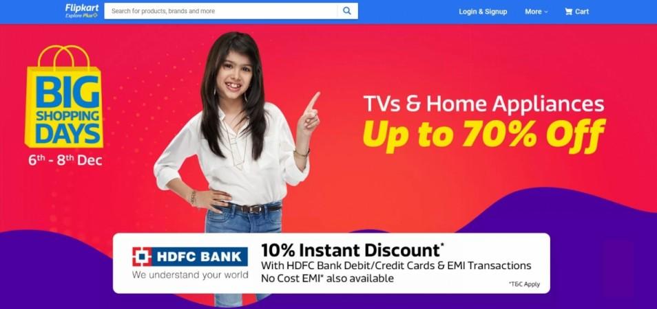Flipkart, Big Shopping Days, sale, discount offer, smart LED TVs, Washing machine