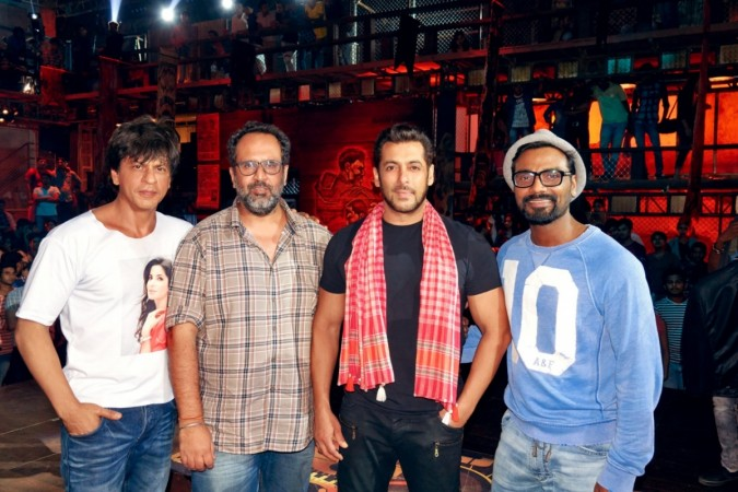 Shah Rukh Khan, Salman Khan, Aanand L Rai and Remo D'Souza on sets of Zero