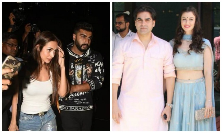 Arjun Kapoor with Malaika Arora (left), Arbaaz Khan with Giorgia Adriani
