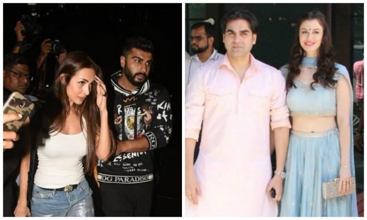 Arjun Kapoor with Malaika Arora (left), Arbaaz Khan with Giorgia Adriani