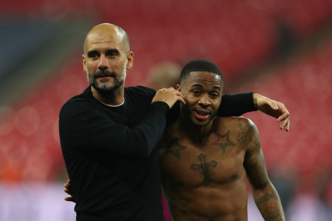 Pep Guardiola Raheem Sterling Manchester City