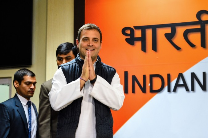 President of the Indian National Congress Party Rahul Gandhi
