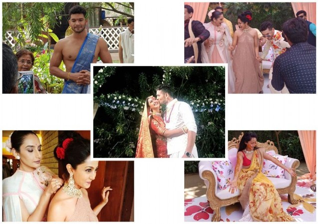 Diganth Marries Aindrita Ray