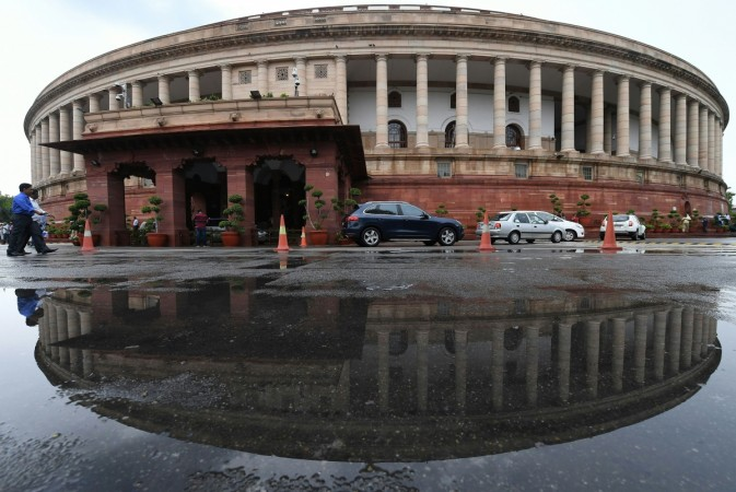 The Indian Parliament building
