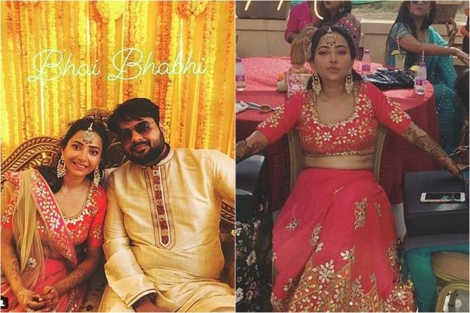 Shweta Basu Prasad and her boyfriend Rohit Mittal at pre-wedding festivities