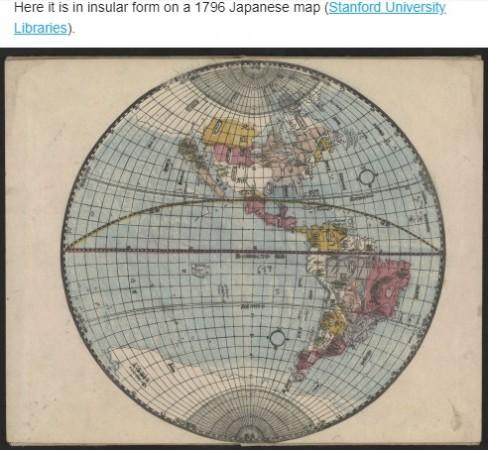 Japanese map of California