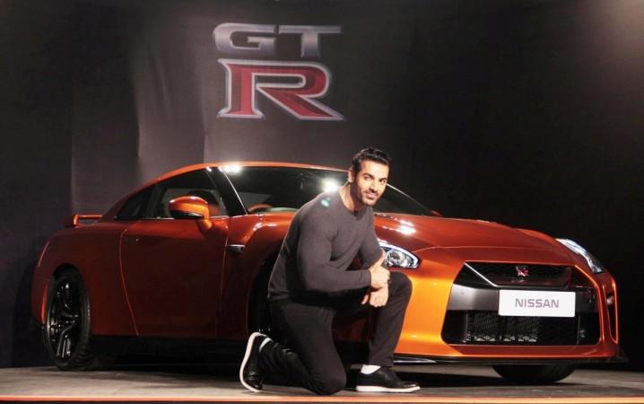 John Abraham with Nissan GT-R