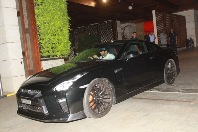 John Abraham with Nissan GT-R