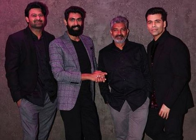 Prabhas, Rana Daggubati and SS Rajamouli with Karan Johar on Koffee With Karan