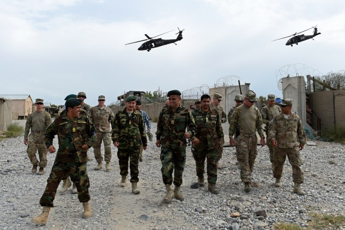 US army and Afghan National Army