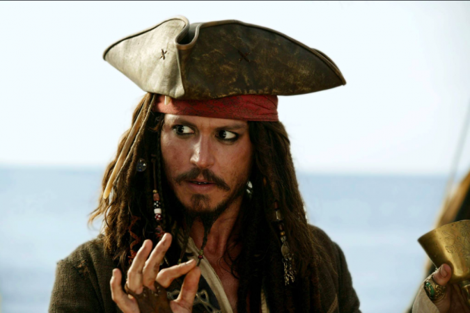Johnny Depp in Pirates of the Caribbean movie