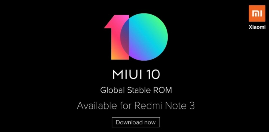 Xiaomi Redmi Note 3 gets MIUI 10 global stable ROM: Here's