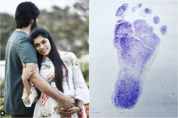 Actor Kalyaan Dhev with wife Sreeja