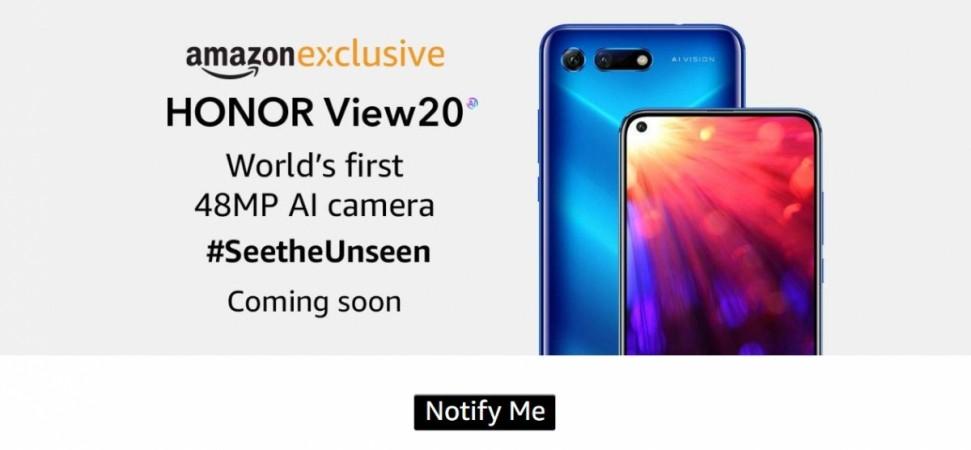Honor View 20, Amazon, India, launch,